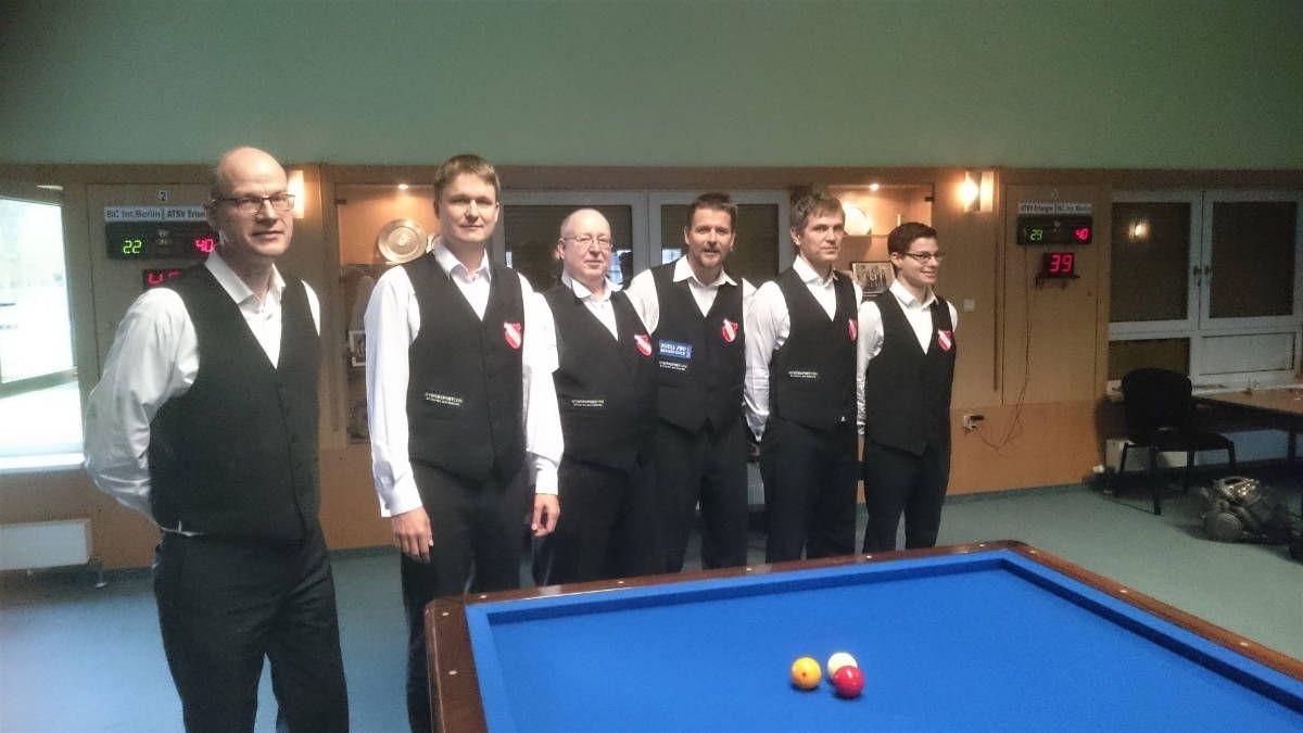 Billard-Dreibandmannschaft des ATSV in 1. Bundesliga aufgestiegen